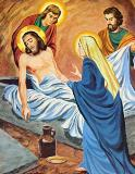 stations of the cross, jesus laid in the tomb, way of the cross, family