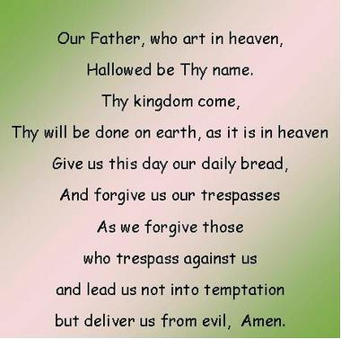 the our father, the lords prayer, rosary prayer